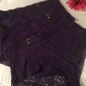 3 pairs Nwt Torrid size 2 purple lace sexy briefs